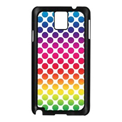 Polka Dots Spectrum Colours Dots Samsung Galaxy Note 3 N9005 Case (black) by Pakrebo