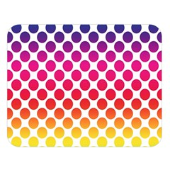 Polka Dots Spectrum Colours Dots Double Sided Flano Blanket (large)  by Pakrebo
