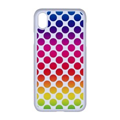 Polka Dots Spectrum Colours Dots Apple Iphone Xr Seamless Case (white)