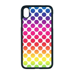 Polka Dots Spectrum Colours Dots Apple Iphone Xr Seamless Case (black)