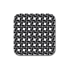 Ellipse Pattern Background Rubber Square Coaster (4 Pack)