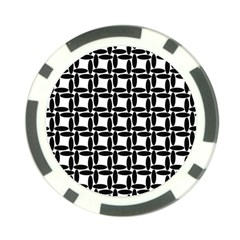 Ellipse Pattern Background Poker Chip Card Guard (10 Pack)