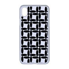 Ellipse Pattern Background Apple Iphone Xr Seamless Case (white)