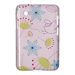 Floral Background Bird Drawing Samsung Galaxy Tab 2 (7 ) P3100 Hardshell Case