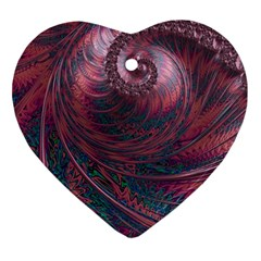Fractal Artwork Digital Pattern Ornament (heart)