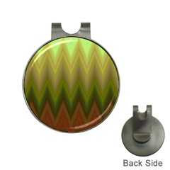 Zig Zag Chevron Classic Pattern Hat Clips With Golf Markers