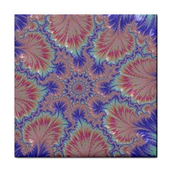 Purple Splat Fractal Art Tile Coasters
