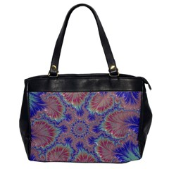 Purple Splat Fractal Art Oversize Office Handbag