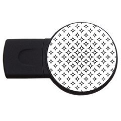 Star Curved Pattern Monochrome Usb Flash Drive Round (4 Gb) by Pakrebo