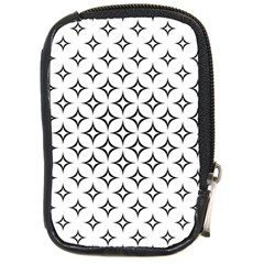 Star Curved Pattern Monochrome Compact Camera Leather Case
