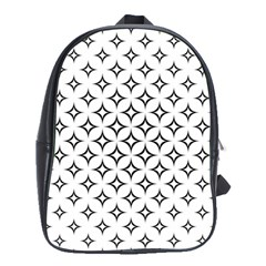Star Curved Pattern Monochrome School Bag (large)