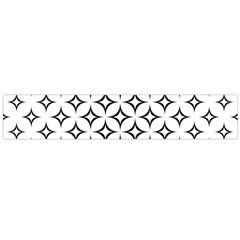 Star Curved Pattern Monochrome Large Flano Scarf