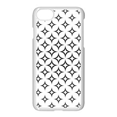 Star Curved Pattern Monochrome Apple Iphone 7 Seamless Case (white)