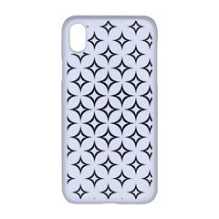 Star Curved Pattern Monochrome Apple Iphone Xr Seamless Case (white)