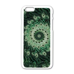 Fractal Art Spiral Mathematical Apple Iphone 6/6s White Enamel Case