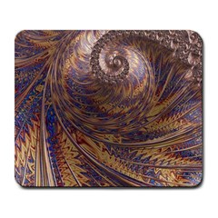 Swirl Fractal Fantasy Whirl Large Mousepads