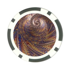 Swirl Fractal Fantasy Whirl Poker Chip Card Guard