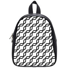 Diagonal Stripe Pattern School Bag (small)