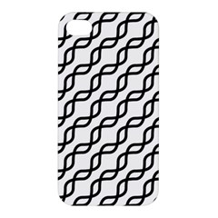 Diagonal Stripe Pattern Apple Iphone 4/4s Premium Hardshell Case