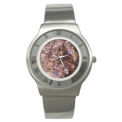Puckered Fractal Artwork Design Stainless Steel Watch
