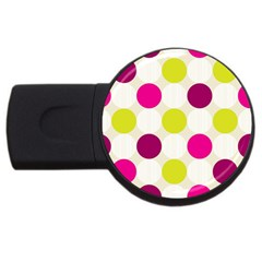 Polka Dots Spots Pattern Seamless Usb Flash Drive Round (4 Gb)