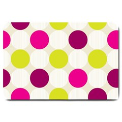 Polka Dots Spots Pattern Seamless Large Doormat  by Pakrebo