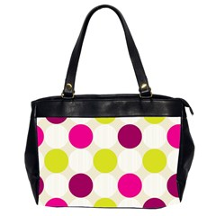 Polka Dots Spots Pattern Seamless Oversize Office Handbag (2 Sides) by Pakrebo