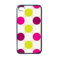 Polka Dots Spots Pattern Seamless Apple Iphone 4 Case (black) by Pakrebo