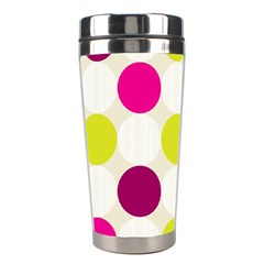 Polka Dots Spots Pattern Seamless Stainless Steel Travel Tumblers by Pakrebo