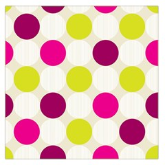 Polka Dots Spots Pattern Seamless Large Satin Scarf (square) by Pakrebo