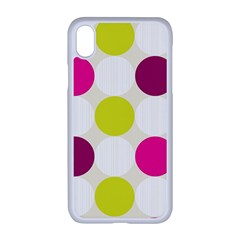 Polka Dots Spots Pattern Seamless Apple Iphone Xr Seamless Case (white)