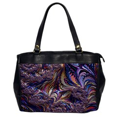 Fractal Artwork Pattern Digital Oversize Office Handbag