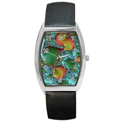 Fractal Art Colorful Pattern Barrel Style Metal Watch