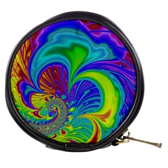 Fractal Neon Art Artwork Fantasy Mini Makeup Bag