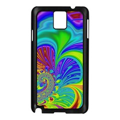 Fractal Neon Art Artwork Fantasy Samsung Galaxy Note 3 N9005 Case (black)