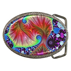 Fractal Art Fractal Colorful Belt Buckles