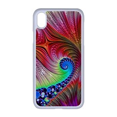 Fractal Art Fractal Colorful Apple Iphone Xr Seamless Case (white)