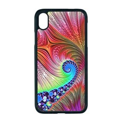 Fractal Art Fractal Colorful Apple Iphone Xr Seamless Case (black)