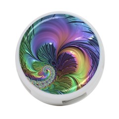 Fractal Artwork Art Swirl Vortex 4 Port Usb Hub (one Side)