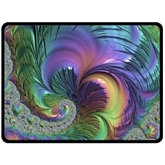 Fractal Artwork Art Swirl Vortex Fleece Blanket (large)  by Pakrebo