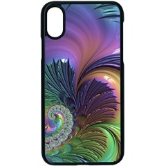 Fractal Artwork Art Swirl Vortex Apple Iphone X Seamless Case (black)
