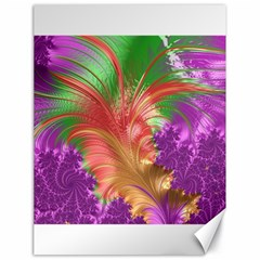 Fractal Purple Green Orange Yellow Canvas 18  X 24