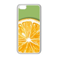 Pop Art Orange  Apple Iphone 5c Seamless Case (white) by Valentinaart