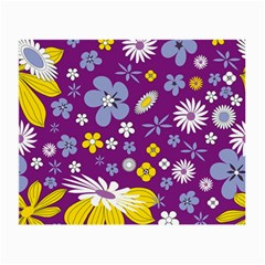 Floral Flowers Wallpaper Paper Small Glasses Cloth (2 Side)