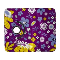 Floral Flowers Wallpaper Paper Samsung Galaxy S  Iii Flip 360 Case