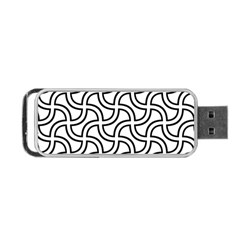 Pattern Monochrome Repeat Portable Usb Flash (two Sides) by Pakrebo