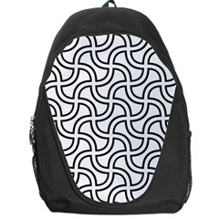 Pattern Monochrome Repeat Backpack Bag by Pakrebo