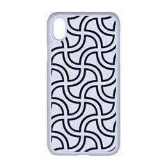 Pattern Monochrome Repeat Apple Iphone Xr Seamless Case (white)