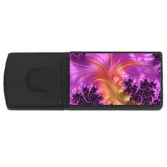 Fractal Puffy Feather Art Artwork Rectangular Usb Flash Drive by Pakrebo