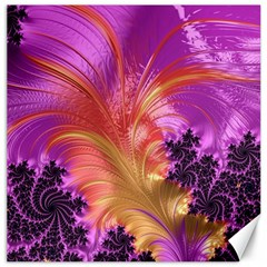 Fractal Puffy Feather Art Artwork Canvas 16  X 16